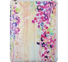 DANCE OF THE SAKURA - Pretty Cherry Blossoms Japanese Floral, Whimsical Abstract Acrylic Painting iPad Case/Skin