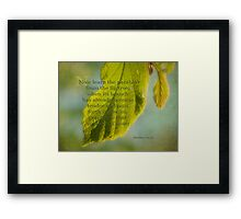 learn from the fig tree-Matthew 24:32 Framed Print