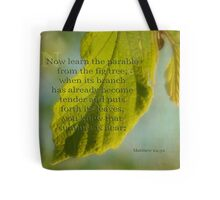 learn from the fig tree-Matthew 24:32 Tote Bag