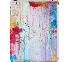 HAPPY TEARS - Bright Cheerful Rainy Day Abstract, Pretty Feminine Whimsical Acrylic Fine Art Painting iPad Case/Skin