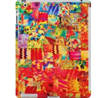 PAINTING THE SOUL - Vibrant Collage Mixed Abstract Acrylic Watercolor Painting Rainbow Colorful Collage Fine Art iPad Case/Skin