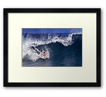 Surfer At Banzai Pipeline 2011.3 Framed Print