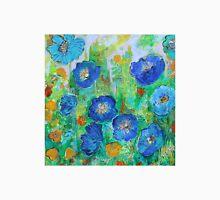 Blue Poppy Garden Unisex T-Shirt