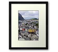 Above the rooftops Framed Print