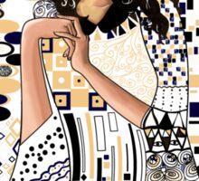 Portrait of Clara Oswin-Oswald a la Klimt Sticker