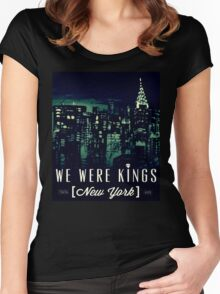 We Were Kings Green Women's Fitted Scoop T-Shirt