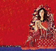 Portrait of Clara Oswin-Oswald a la Klimt by Nana Leonti