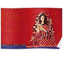 Portrait of Clara Oswin-Oswald a la Klimt Poster