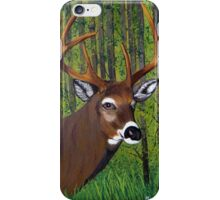 Buck by the forest iPhone Case/Skin