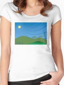 Sun and Sky Women's Fitted Scoop T-Shirt