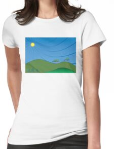 Sun and Sky Womens Fitted T-Shirt