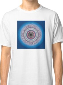 Multi-colored abstract circle on blue gradient background Classic T-Shirt