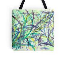 Green & Purple Watercolor Tote Bag