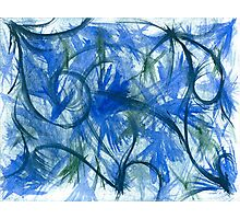 Blue Spark Watercolor Photographic Print
