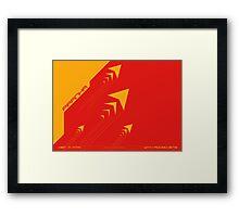 Wipeout Piranha Advancements Poster Framed Print