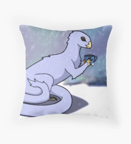 Home in the Cold Throw Pillow