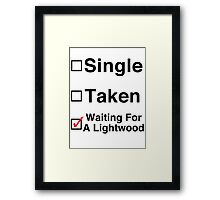 Waiting for a Lightwood Framed Print