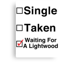 Waiting for a Lightwood Canvas Print