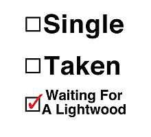 Waiting for a Lightwood Photographic Print
