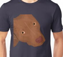 Cute Red Nose Pitbull Portrait - Vector Art Unisex T-Shirt