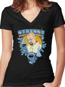 Heisenberg's Mobile Cuisine Women's Fitted V-Neck T-Shirt