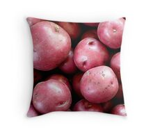 Red Potatoes Throw Pillow