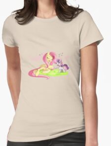 Fluttershy & Sweetie Belle Singing Womens Fitted T-Shirt