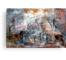 Contemporary Cave Painting Canvas Print