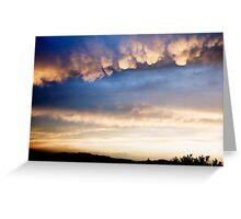 Cumulonimbus with Mammatus clouds Greeting Card