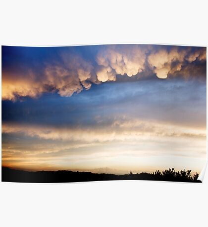 Cumulonimbus with Mammatus clouds Poster