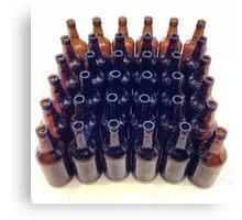 Beer Bottles - Colour Canvas Print