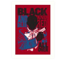 RED ALL OVER (DJANGO UNCHAINED) Art Print