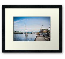 Local Tall ships docks Framed Print