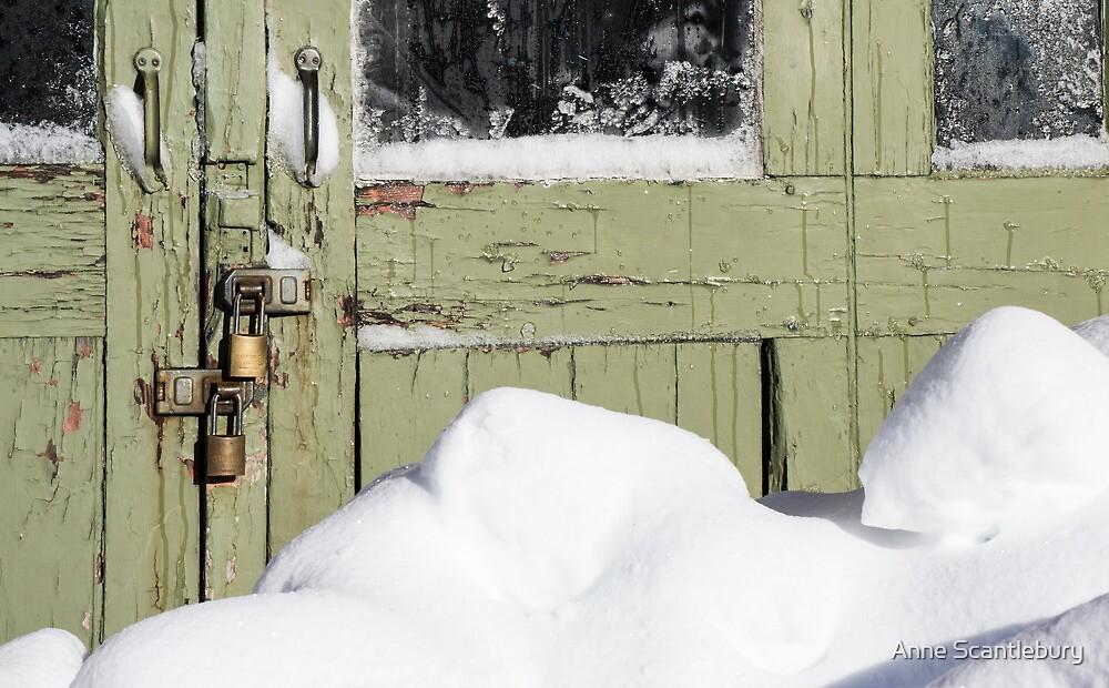 locked door by Anne Scantlebury