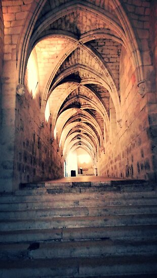 Columns in Bourges Cathedral by identit3a