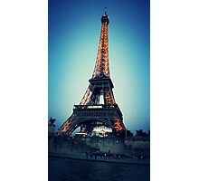 Eiffel at Night Photographic Print