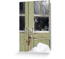 green door Greeting Card
