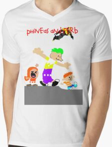 Phineas and Ferb Mens V-Neck T-Shirt