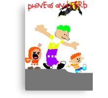Phineas and Ferb Canvas Print
