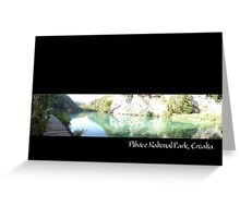 plitvice national park Greeting Card