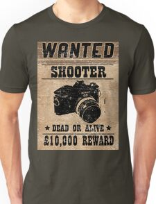 Shooter Wanted Unisex T-Shirt