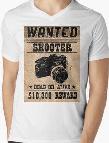 Shooter Wanted Mens V-Neck T-Shirt