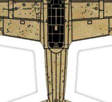 Mitsubishi A6M Zero (Vintage/Worn Look) Sticker