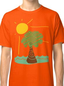 Island Breeze Sun and Palm Tree Ocean Classic T-Shirt