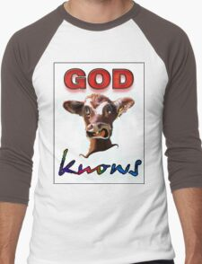 GOD KNOWS Men's Baseball ¾ T-Shirt