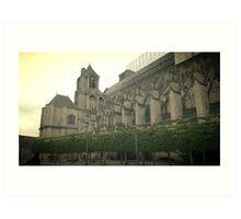 Cathedral de Bourges Art Print