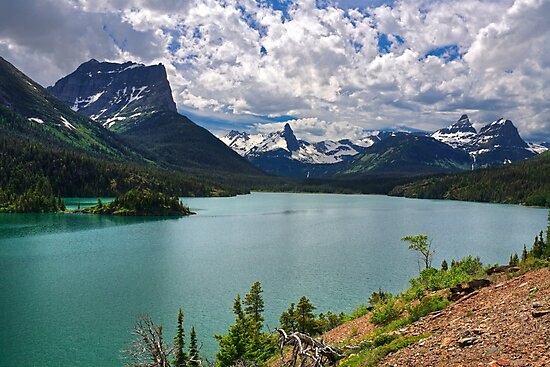 St. Mary Lake From Sun Point, Glacier National Park by Daniel Arthur Brown