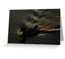 The End Of The Day Waves Greeting Card