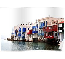 Mykonos Beach Houses Poster