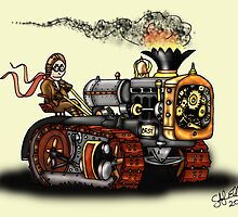 Steampunk Best Tractor 1923 by squigglemonkey